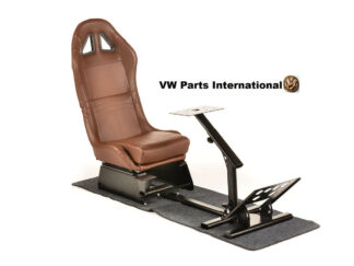 Gaming Racing Simulator Frame Chair Bucket Seat For Virtual Reality Game PC PS3 PS4 X Box (Brown)
