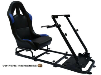 Gaming Racing Simulator Frame Chair Bucket Seat For Virtual Reality Game PC PS3 PS4 X Box (Black Blue).5