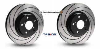 Tarox Performance Rear Brake Discs F2000 Pair Fast Road Track Day Upgrade Precision Hand Finished For VW Audi Seat Skoda
