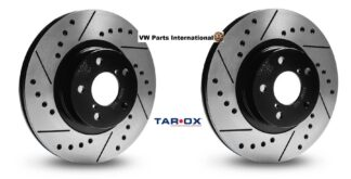 Tarox Performance Rear Brake Discs Sport Japan Drilled Grooved Pair for VW Audi Seat Skoda Fast Road Track Day Upgrade Precision Hand Finished