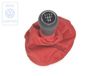 VW Polo 6N 6N1 Colour Concept Leather Gear Knob Lever and Gaitor FLASH RED New Genuine NOS OEM VW Part 6X0711118H HGM