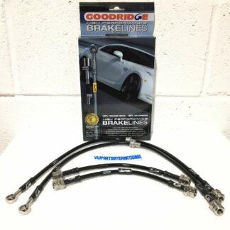Audi A3 8P Goodridge Phantom Braided Stainless Steel Black Braided Brake Hoses Kit Stainless Ends 4 Lines Brand New