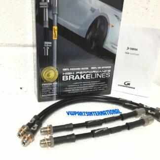 VW Golf MK2 GTI Goodridge Braided Stainless Steel Phantom Brake Hose Kit Black 4 Line with Brand New