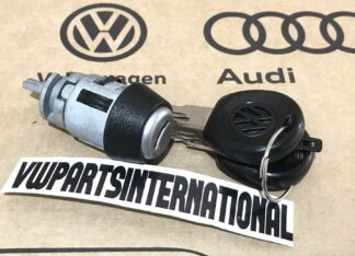 VW Golf MK1 MK2 MK3 Ignition Barrel Cylinder + Keys Jetta Caddy G60 8v 16v GTI VR6 Genuine OEM Parts