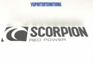 Scorpion Exhaust Sticker Large Decal Emblem Logo for VW Audi Seat Skoda R R32 TSI TFSI TDI