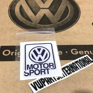 Genuine Volkswagen Motorsport Large Sticker Decal Dome Gel VW Golf Rallye G60 16v VR6 GTI R32 Polo VWR VW Racing