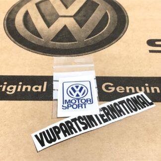 Genuine Volkswagen Motorsport Small Sticker Decal Dome Gel VW Golf Rallye G60 16v VR6 GTI R32 Polo VWR VW Racing