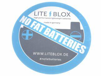 VW Audi Seat Skoda LITE↯BLOX Sticker #nofatbatteries High Performance Smart Battery Lightweight Motorsport Spec