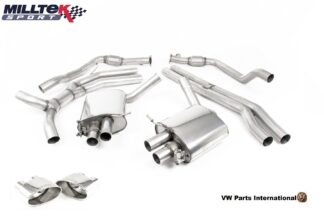 Audi RS5 B9 Turbo Coupe Milltek Sport Road+ Cat Back Exhaust System Polished Oval Trims SSXAU758