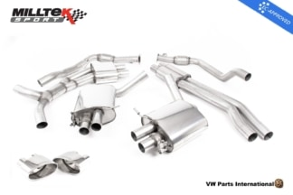 Audi RS5 B9 Turbo Coupe Milltek Sport Resonated Cat Back Exhaust System Polished Oval Trims EC Approved SSXAU753.1