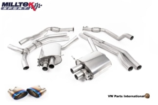Audi RS5 B9 Turbo Coupe Milltek Sport Road+ Cat Back Exhaust System Burnt Titanium Oval Trims SSXAU814