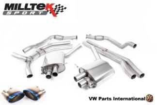 Audi RS4 quattro B9 Turbo Avant Milltek Sport Road+ Cat Back Exhaust System Burnt Titanium Oval Trims SSXAU808_1