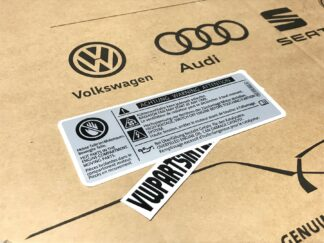 VW Audi Engine Bay Achtung Warning Attention Decal Sticker Hot Parts Genuine OEM Part 701010002A