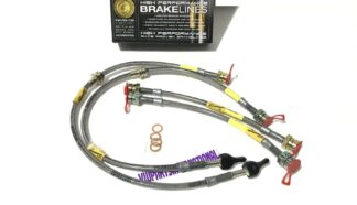 Audi A3 8P Goodridge Braided Stainless Steel Clear Braided Brake Hoses Kit Zinc Ends 4 Lines New/Old Stock