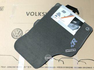 VW Golf MK4 R32 Carpet Floor Mats Grey with Embroidered R Logo for RHD Genuine OEM NOS Parts