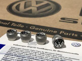 Genuine Volkwagen Tyre Valve Caps Wheel Dust Caps Golf MK1 MK2 MK3 MK4 MK5 MK6 MK7 Polo Genuine OE Accessories