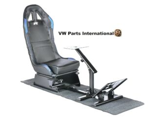 Car Gaming Racing Simulator Frame Chair Bucket Seat For Virtual Reality Game PC PS3 PS4 X Box Carbon Look (Black:Blue) Imitation Leather