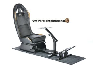 Car Gaming Racing Simulator Frame Chair Bucket Seat For Virtual Reality Game PC PS3 PS4 X Box (Black:Gold Material)