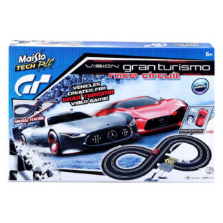RC Race Vision Gran Turismo Slot Set Radio Controlled Cars & Track Fun Gift Present, Like Scalextric