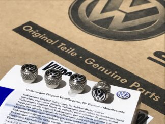 Genuine Volkwagen Tyre Valve Wheel Dust Caps rubber metal valves Golf MK1 MK2 MK3 MK4 MK5 MK6 MK7 Polo Genuine OE Accessory