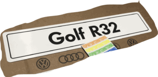 VW Golf MK4 R32 Show Plate Number Plate Enthusiasts Owners Shows Photos OEM Accessory