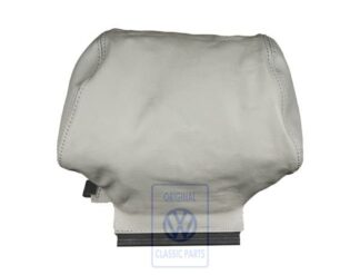 VW Golf MK3 3.5 Cabrio Head Rest Cover Flannel Grey Leather Leatherette Genuine OEM NOS Part