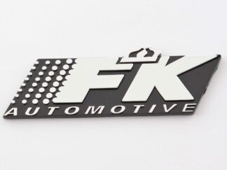 FK Automotive Chrome Badge Emblem for the FK Coilover Springs Seats Fans, rep the brand FK