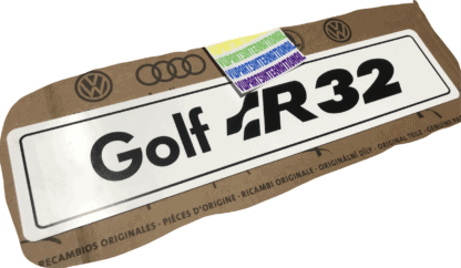VW Golf MK4 R32 Logo Show Plate Number Plate Enthusiasts Owners Shows Photos OEM Accessory