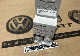Phantom Black Schwarz Pearlescent LZ9Y Genuine VW Touch Up Paint Audi Seat Skoda Scratch Stone Chip Repair