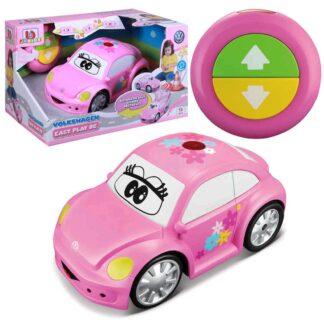 Junior Volkswagen Beetle Easy Play RC Remote Controlled VW Car Toy 18m+ Pink Toddlers Childs Present Gift