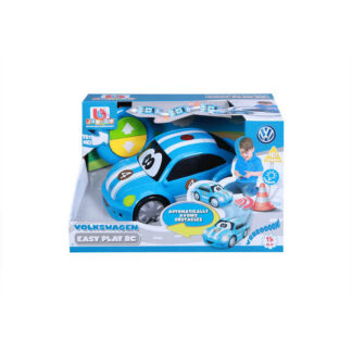 Junior Volkswagen Beetle Easy Play RC Remote Controlled VW Car Toy 18m+ Blue Toddlers Childs Present Gift