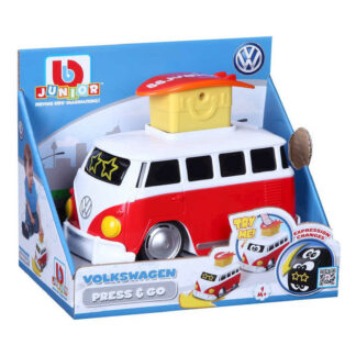 Junior Volkswagen Campervan Splitty Press and Go VW Car Toy 9m+ Baby Toddlers Present Gift