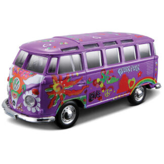 Volkswagen Van VW Hippie Bus Splitty Samba 'Purple' 1:25 Scale Model Owners Collectors Birthday Gift