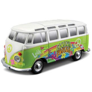 Volkswagen Van VW Hippie Bus Splitty Samba 1:25 Scale Model Owners Collectors Birthday Gift