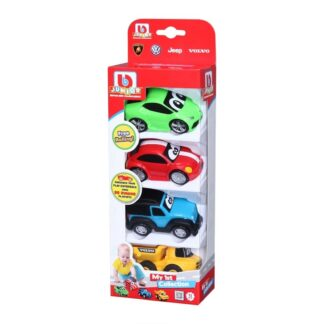 Junior My 1st Car Collection set of 4 Volkswagen Lamborghini Jeep Volvo Toy Cars 12m+ Toddlers Childs Present Gift