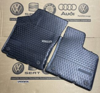 VW Scirocco MK3 Front Rubber Floor Mats Winter Wet Rain Carpet Protection Feet Pads Genuine OEM VW Parts