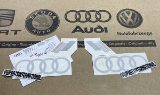 Audi RS3 RS4 RS5 RS6 TT R8 Heritage Decal Stickers Silver Logos Kit Genuine New OEM Audi Votex Parts