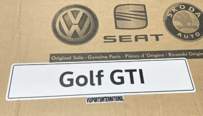 VW Golf GTI Show Plate Number Plate Enthusiasts Owners Shows Photos OEM Accessory