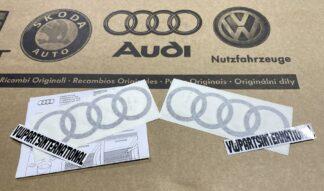 Audi RS3 RS4 RS5 RS6 TT R8 Black Rings Decal Stickers Logos Kit Genuine New OEM Audi Votex Parts