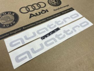 Audi RS3 RS4 RS5 RS6 TT R8 quattro Decal Stickers Black Logos Kit Genuine New OEM Audi Votex Parts