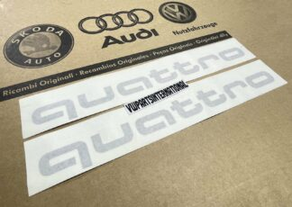 Audi RS3 RS4 RS5 RS6 TT R8 quattro Decal Stickers Silver Logos Kit Genuine New OEM Audi Votex Parts