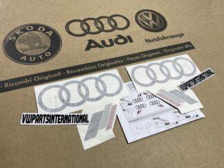 Audi RS3 RS4 RS5 RS6 TT R8 Heritage Decal Stickers Black Logos Kit Genuine New OEM Audi Votex Parts