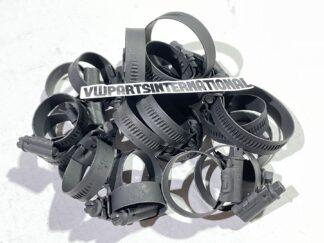 VW Golf MK2 1.8 8v PB Coolant Hose Clips Clamps Full Set Stealth Black Adjustable Style New Mikalor Parts