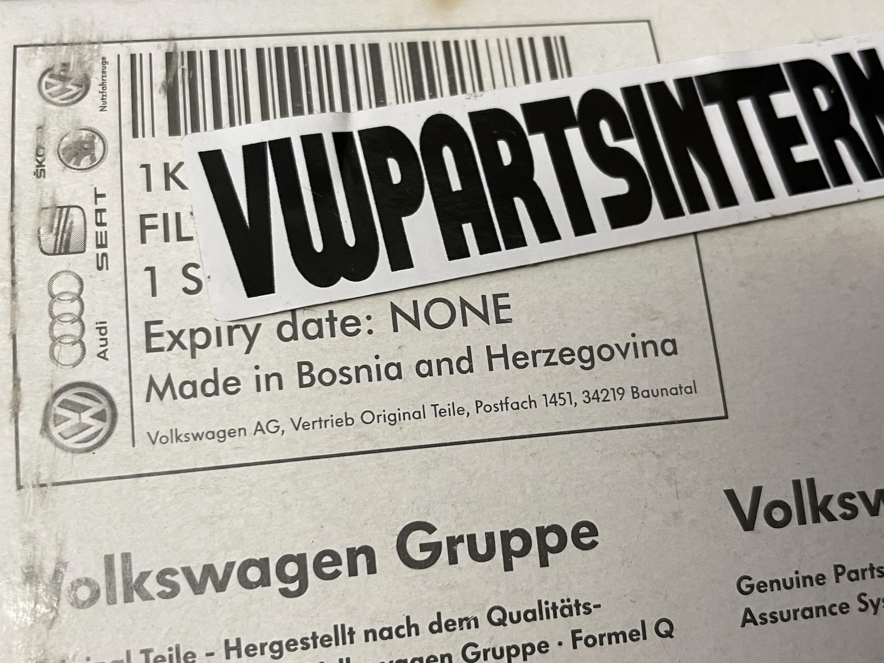 Genuine OEM Volkswagen Parts Made Worldwide