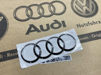 Audi A4 S4 RS4 Avant quattro Rear Trunk Boot Audi Rings Emblem Badge Logo Inscription Genuine New OEM Audi Part