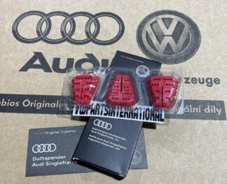 Audi RS3 RS4 RS5 RS6 TT R8 Singleframe Mediterranean Fragrance Aroma Dispenser Refill Pack Red Genuine New OEM Audi Votex Part Gift