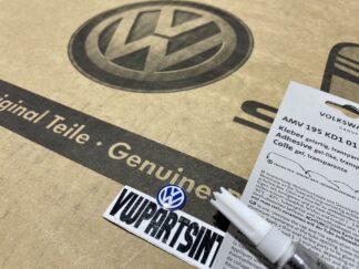 Volkswagen VW Flip Key Logo Inscription Badge Blue with Adhesive Gel Glue New Genuine OEM VW Parts