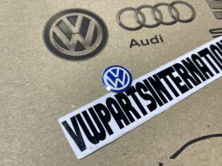 Volkswagen VW Flip Key Logo Inscription Badge Blue New Genuine OEM VW Part