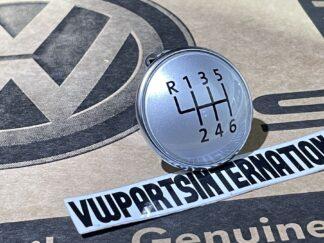 VW Golf MK6 Scirocco MK3 Tiguan 6 Speed Gear Knob Face Badge Cap Team Genuine New OEM VW Part