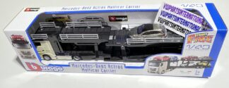 Mercedes Benz Car Transporter Multi Carrier + VW Polo GTI Street Fire 1:43 Scale Model Car Toy Childs Kids Dads Enthusiasts Collectors Item Gift